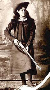 Picture of Annie Oakley the Cowboy with a rifle and western hat