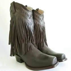 Gypsy Rose - Double Fringe Brown (SQR Toe)