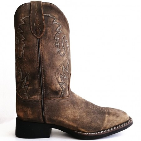 Stained Oak Cowboy Boot