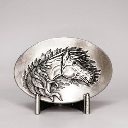Silver Plated Wind Horse