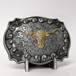 Gold Rodeo Bull Head Belt...