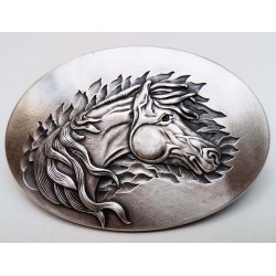 Vintage Blue Rodeo Horse Buckle
